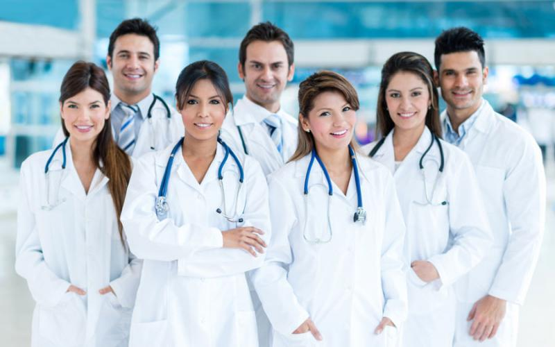 Photo of smiling medical professionals